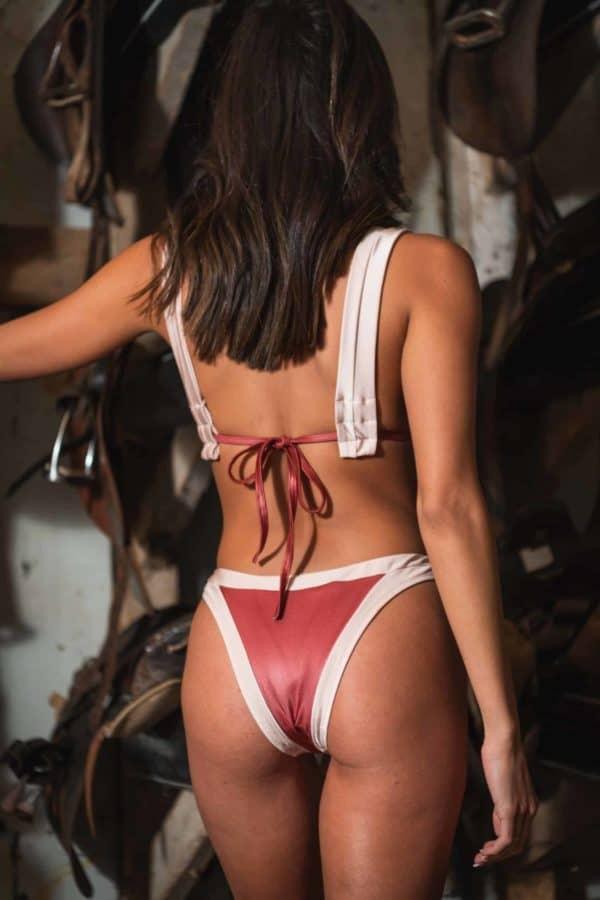 triangle bikini brown