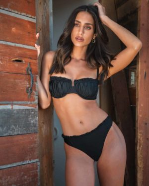 seashell bikini black